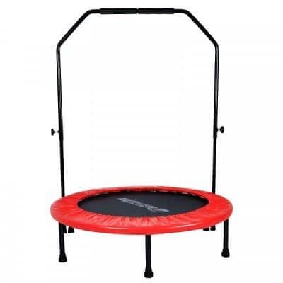fitness trampolin med håndtag – 100 cm